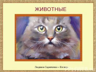 ЖИВОТНЫЕЛюдмила Скрипченко « Взгляд»