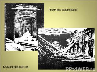 Анфилада залов дворца Большой тронный зал
