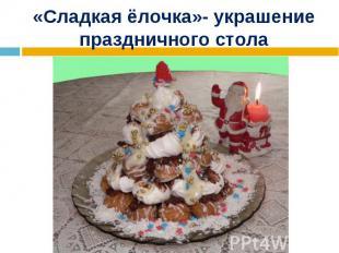 «Сладкая ёлочка»- украшение праздничного стола