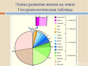 Этапы развития жизни на земле Геохронологическая таблица
