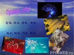 Проверь себя! Б, 2) А, 3) В, 4) В, 5) А, 6) В, 7) Б, 8) Б