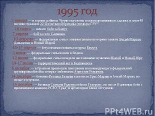 1995 год 7 января — в горных районах Чечни окружены силами противника и сдались