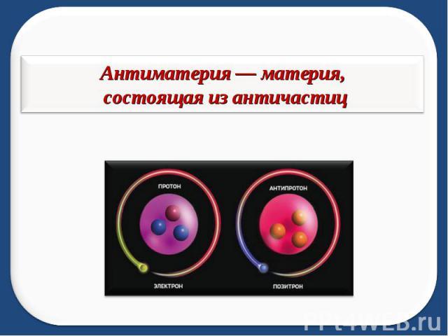 Антиматерия — материя, состоящая из античастиц