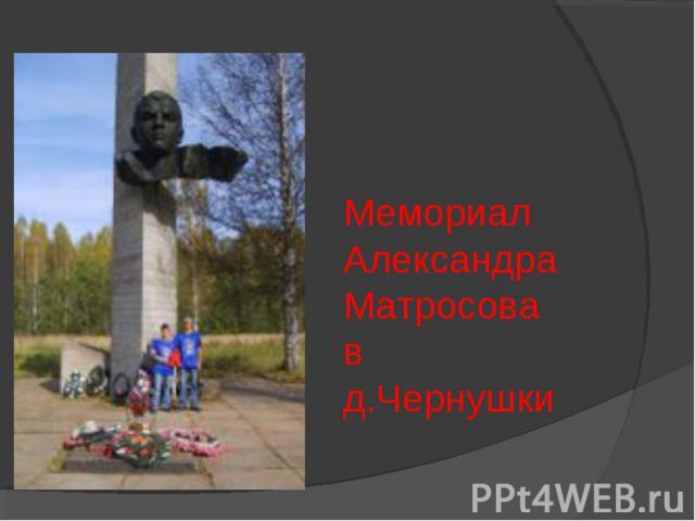 Мемориал Александра Матросова в д.Чернушки