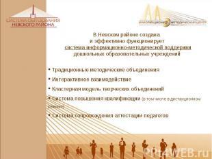 В Невском районе создана и эффективно функционирует система информационно-методи