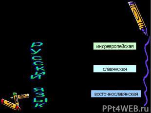 К какой семье языков принадлежит русский язык? Русский язык (наряду с украинским