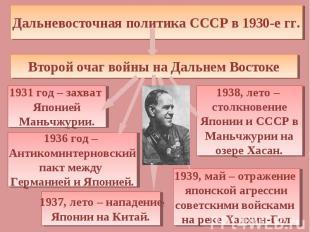 Дальневосточная политика СССР в 1930-е гг. Второй очаг войны на Дальнем Востоке