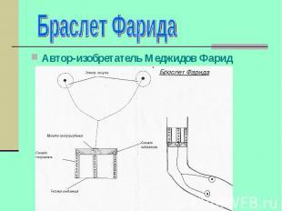 Браслет Фарида Автор-изобретатель Меджидов Фарид
