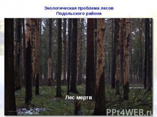 Экологическая проблема лесов Подольского района
