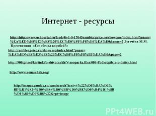 Интернет - ресурсы http://http://www.uchportal.ru/load/46-1-0-17045rambler.price