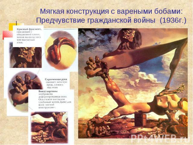 Мягкая конструкция с вареными бобами: Предчувствие гражданской войны (1936г.)