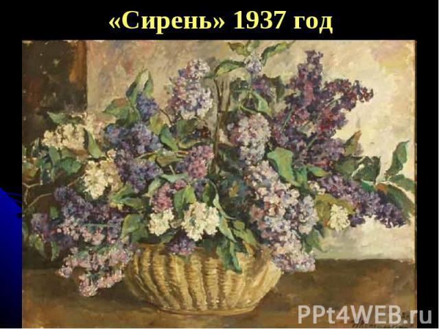 «Сирень» 1937 год