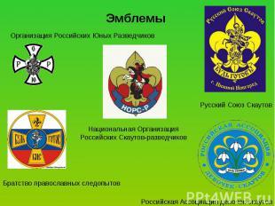 Эмблемы Организация Российских Юных Разведчиков Национальная Организация Российс