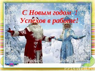 С Новым годом ! Успехов в работе!