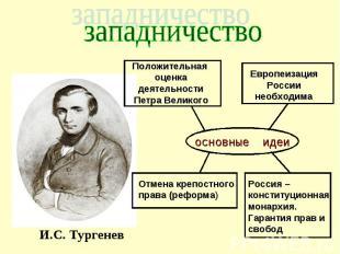 западничество основные идеи Положительная оценка деятельности Петра Великого Евр