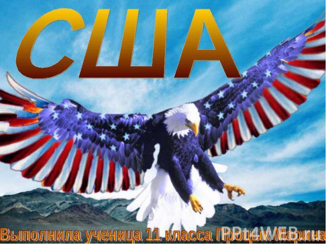 США Выполнила ученица 11 класса Процык Марина
