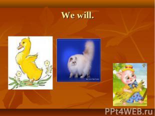 We will.