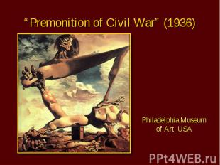 """Premonition of Civil War"" (1936) Philadelphia Museum of Art, USA"