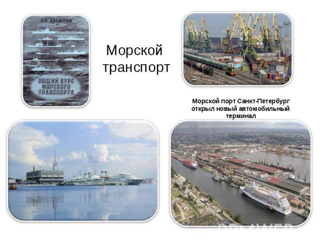 Морской транспорт Морской порт Санкт-Петербург открыл новый автомобильный терминал