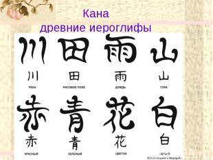 Кана древние иероглифы
