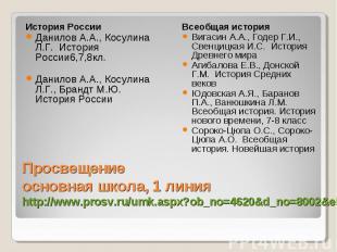 История России Данилов А.А., Косулина Л.Г. История России6,7,8кл. Данилов А.А.,