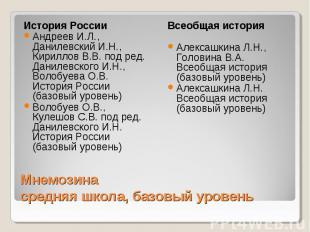 История России Андреев И.Л., Данилевский И.Н., Кириллов В.В. под ред. Данилевско