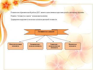 Показателем образовательной работы ДОУ является качественная подготовка детей к