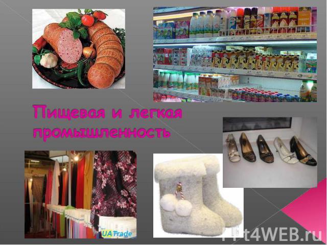 Пищевая и легкая промышленность