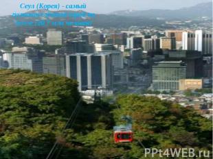 Сеул (Корея) - самый густонаселённый город на Земле (20,7 млн человек)