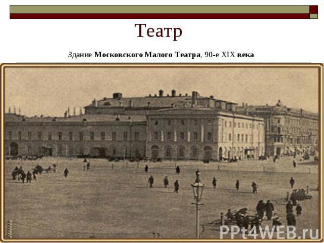 Театр Здание Московского Малого Театра, 90-е XIX века