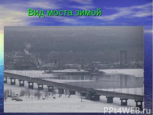 Вид моста зимой