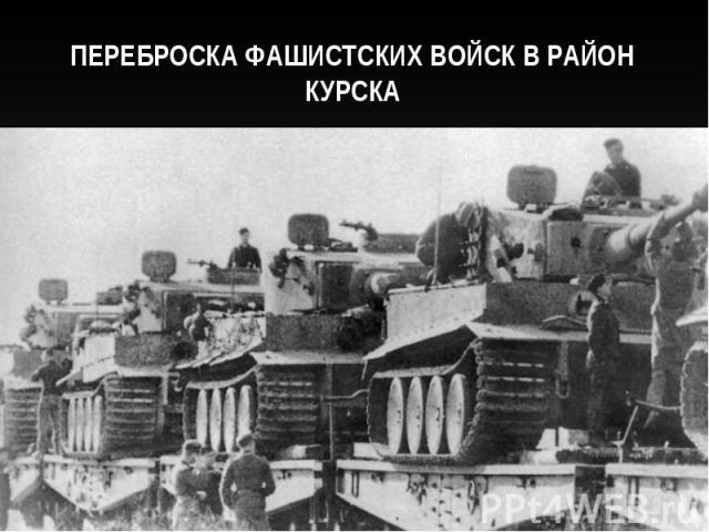 Переброска фашистских войск в район Курска