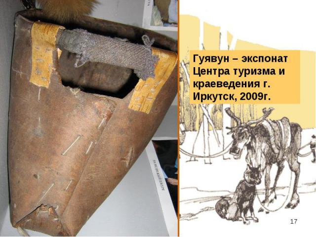 Гуявун – экспонат Центра туризма и краеведения г. Иркутск, 2009г.