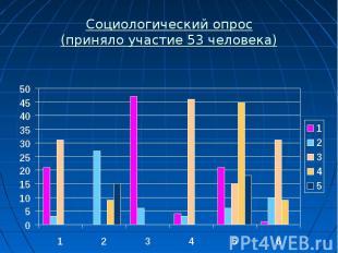 Социологический опрос (приняло участие 53 человека)