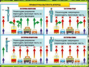 Пешеходам разрешено переходить проезжую часть за спиной регулировщика Пешеходам