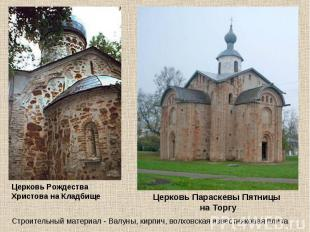 Церковь Рождества Христова на Кладбище Церковь Параскевы Пятницы на Торгу Строит