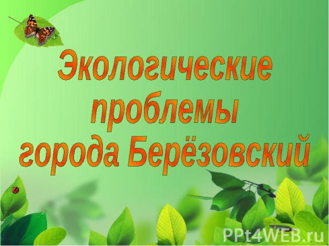 Экологические проблемы города Берёзовский