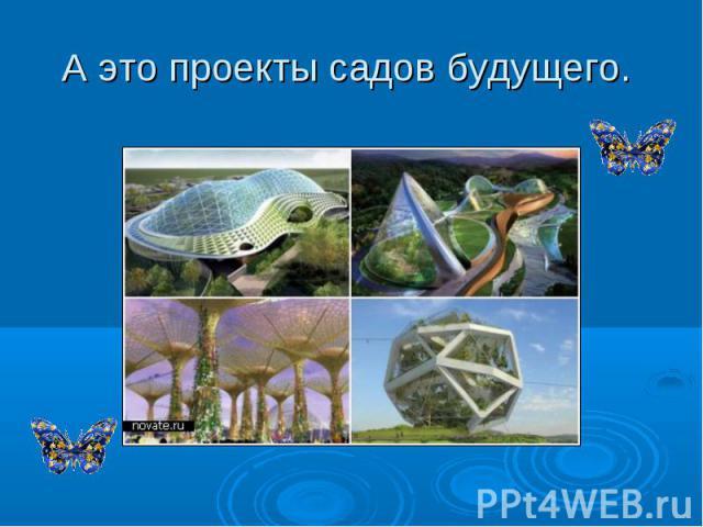 А это проекты садов будущего.