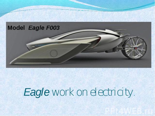 Model Eagle F003 Eagle work on electricity.