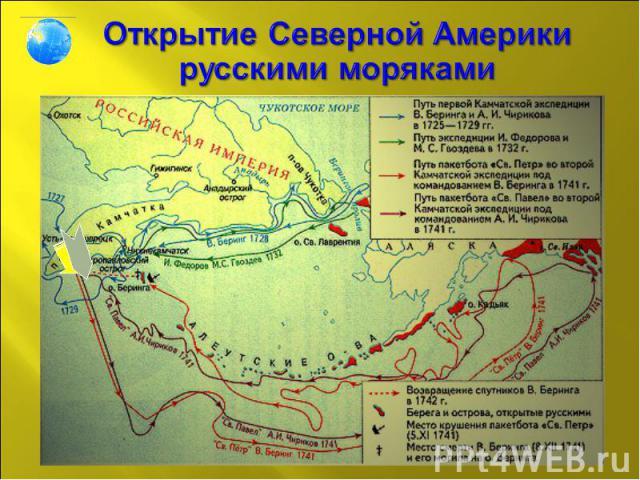 Открытие Северной Америки русскими моряками