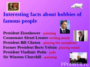 Interesting facts about hobbies of famous people President Eisenhower - painting