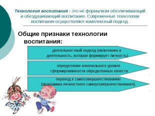 Технология воспитания - это не формализм обезличивающий и обездушивающий воспита