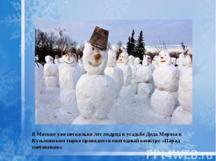 В Москве уже несколько лет подряд в усадьбе Деда Мороза в Кузьминском парке пров