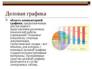Деловая графика область компьютерной графики, предназначенная для наглядного пре