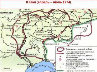 II этап (апрель – июль 1774)
