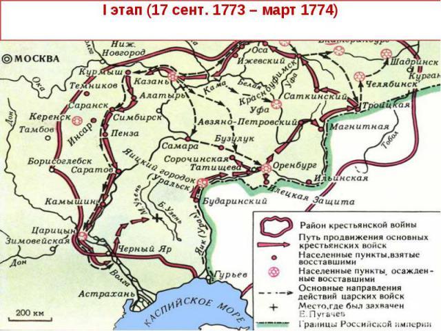 I этап (17 сент. 1773 – март 1774)