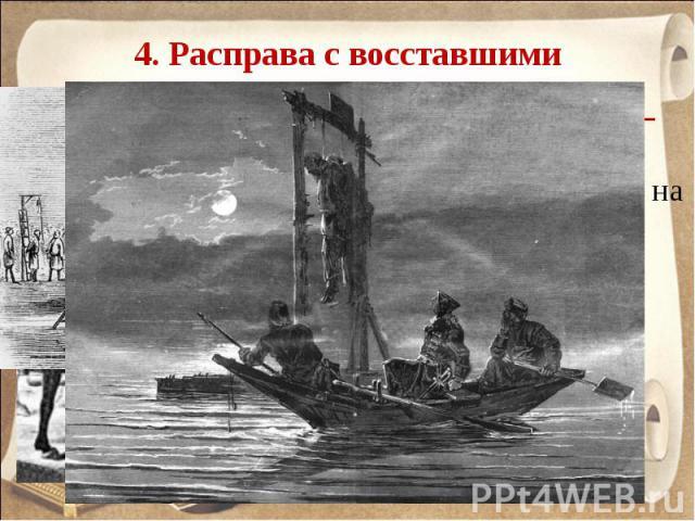 4. Расправа с восставшими 10 января 1775 г. – казнь Емельяна Пугачева в Москве на Болотной площади