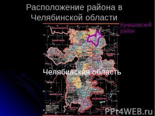 Расположение района в Челябинской области Челябинская область