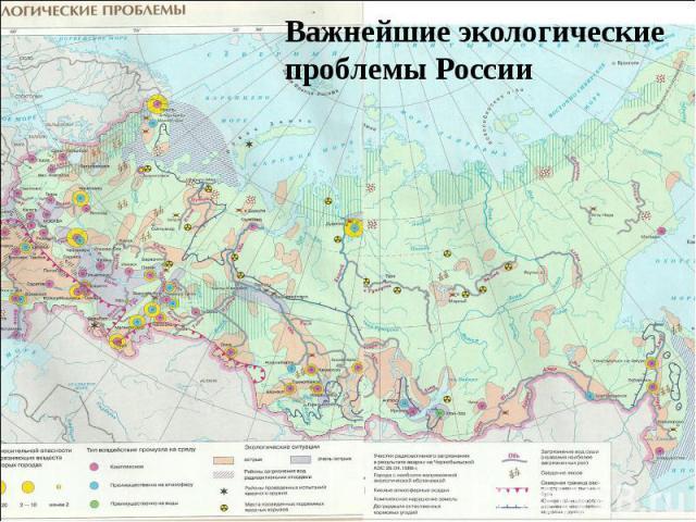 Важнейшие экологические проблемы России