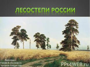 Лесостепи России Выполнил: Ученик 8 «Б» класса Горланов Владислав